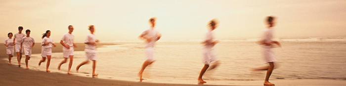 Healthy Running on the beach