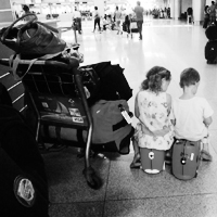 At the Airport | Traveling with Kids