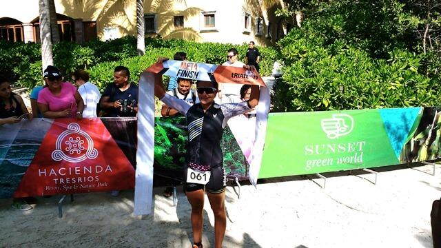 female winner Hacienda Tres Rios triathlon 2017